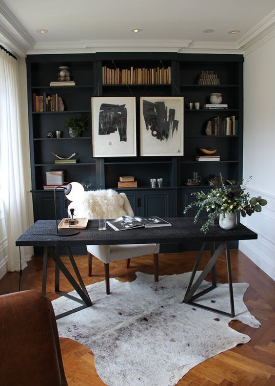 black masculine office